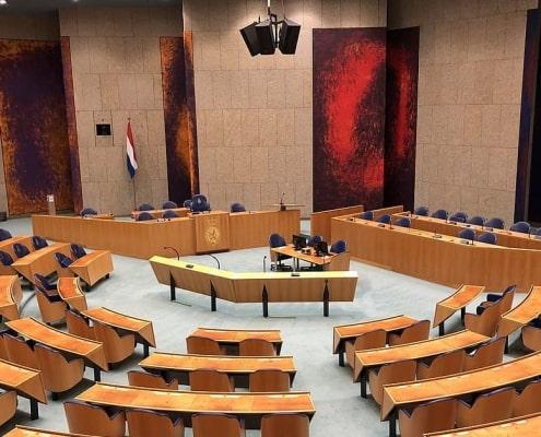Tweede Kamer - leeg   Groen Rechts