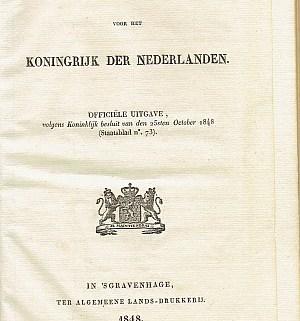 Grondwet - 1848 - cover | Groen Rechts